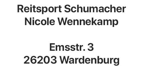 Reitpsort Schumacher